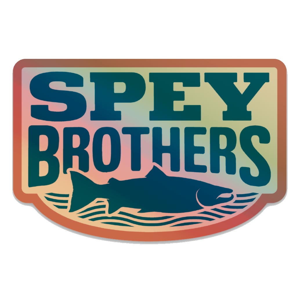 Holo Spey Brothers decal blue-red