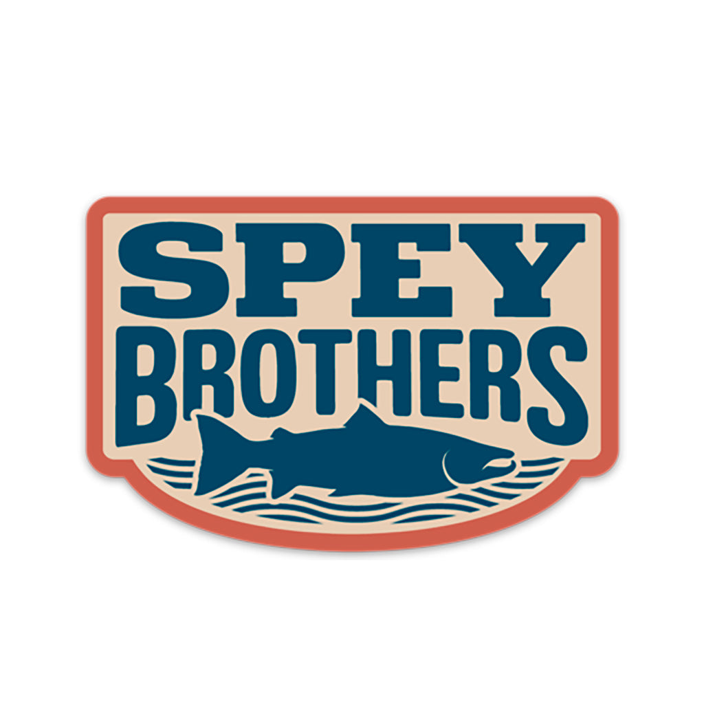 Spey Brothers decal blue-red