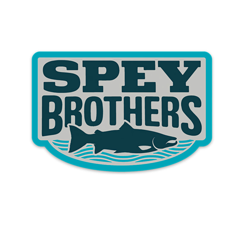 Spey Brothers decal blue-silver