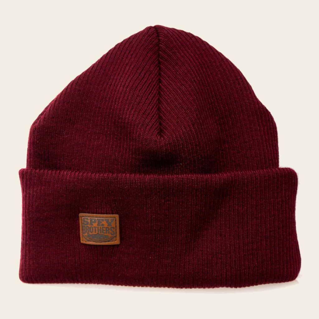 Merino Wool Hat Burgundy