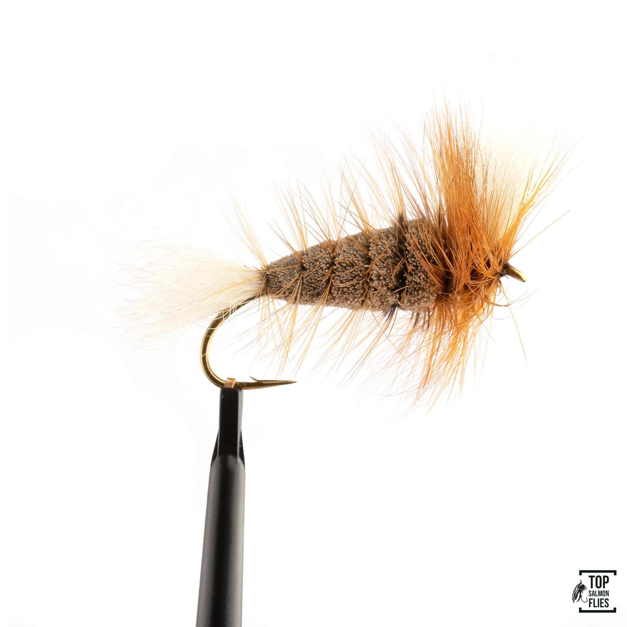 Gray-White Tail-Brown Hackle Bomber