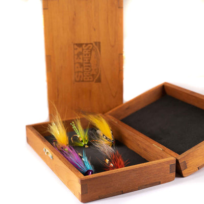 Custom wooden fly box