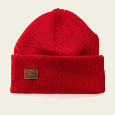 Merino Wool Hat Red