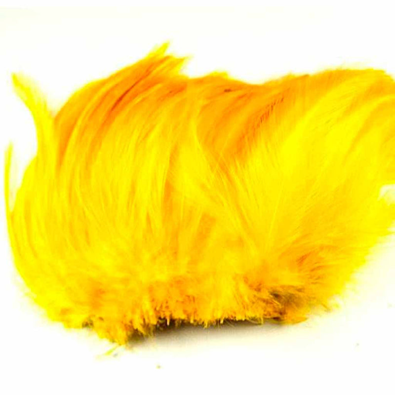 Neck Hackle Strung Yellow