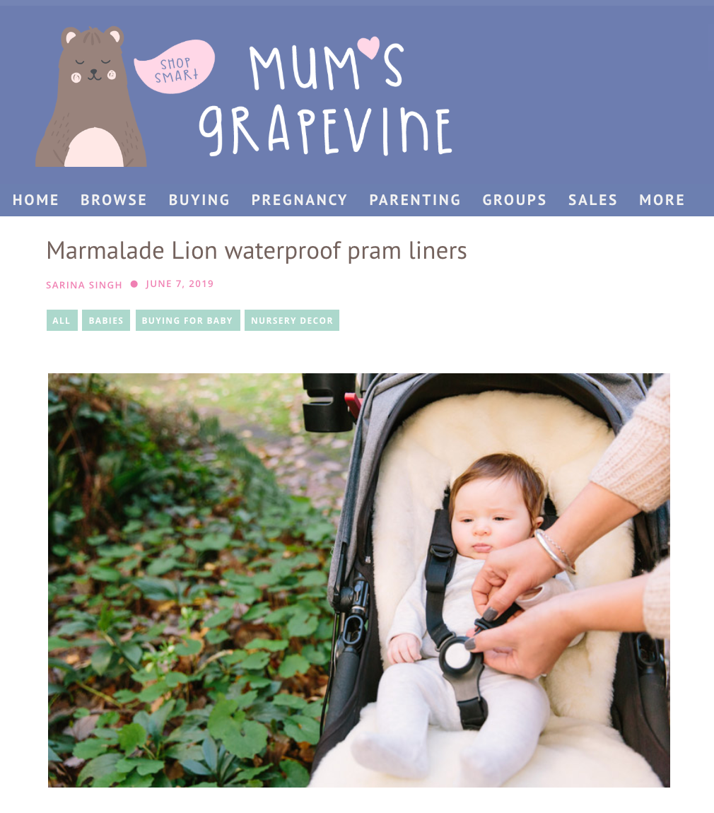 Mum's Grapevine reviews our best-selling Pram Liners