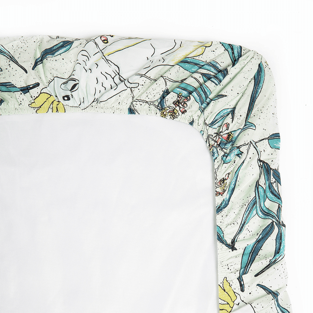 Cockatoo Bassinet Sheet / Change Table Cover by Marmalade Lion