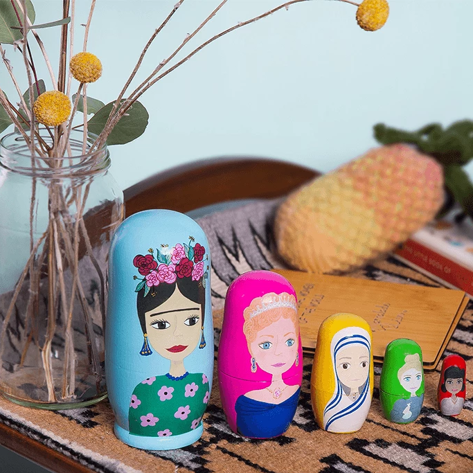 Inspirational Woman of the World Nesting Babushka Dolls - Marmalade Lion