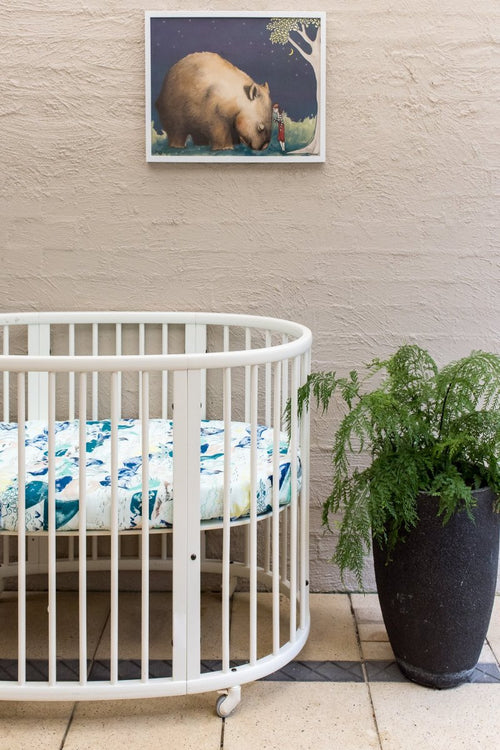 Blue Mountains Cot Sheet