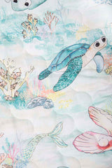 Marmalade Lion Lady Elliot Island Bassinet Fitted Sheet using Expect-A-Spill technology