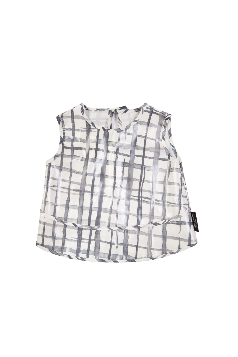 Swedish Check Sleeveless Smock