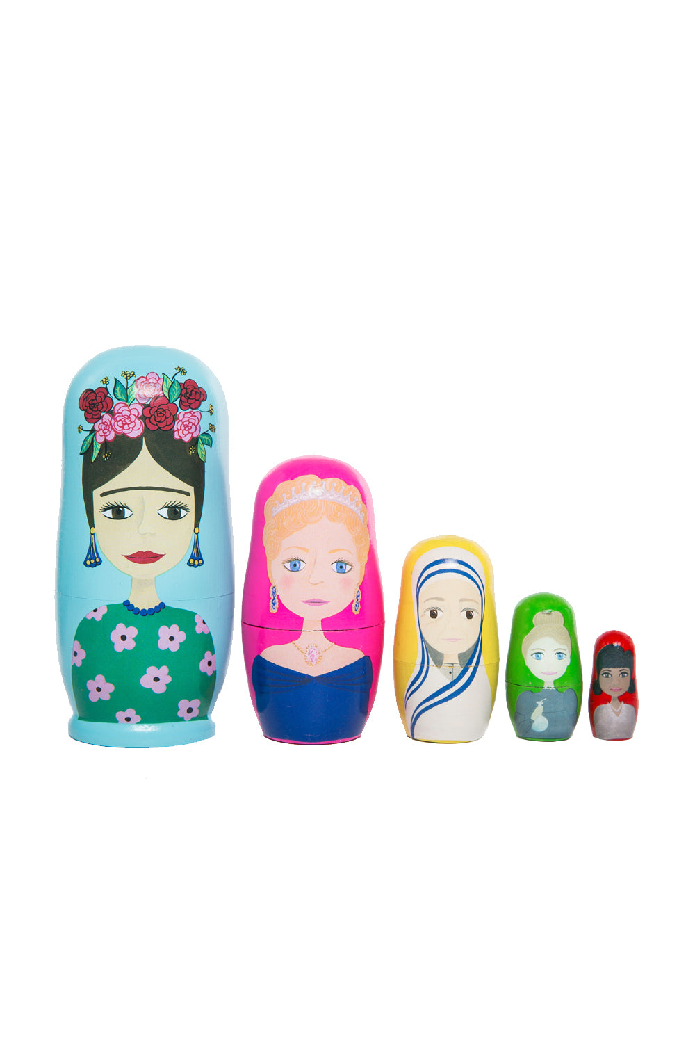Inspirational Women of the World Babushka Nesting Dolls