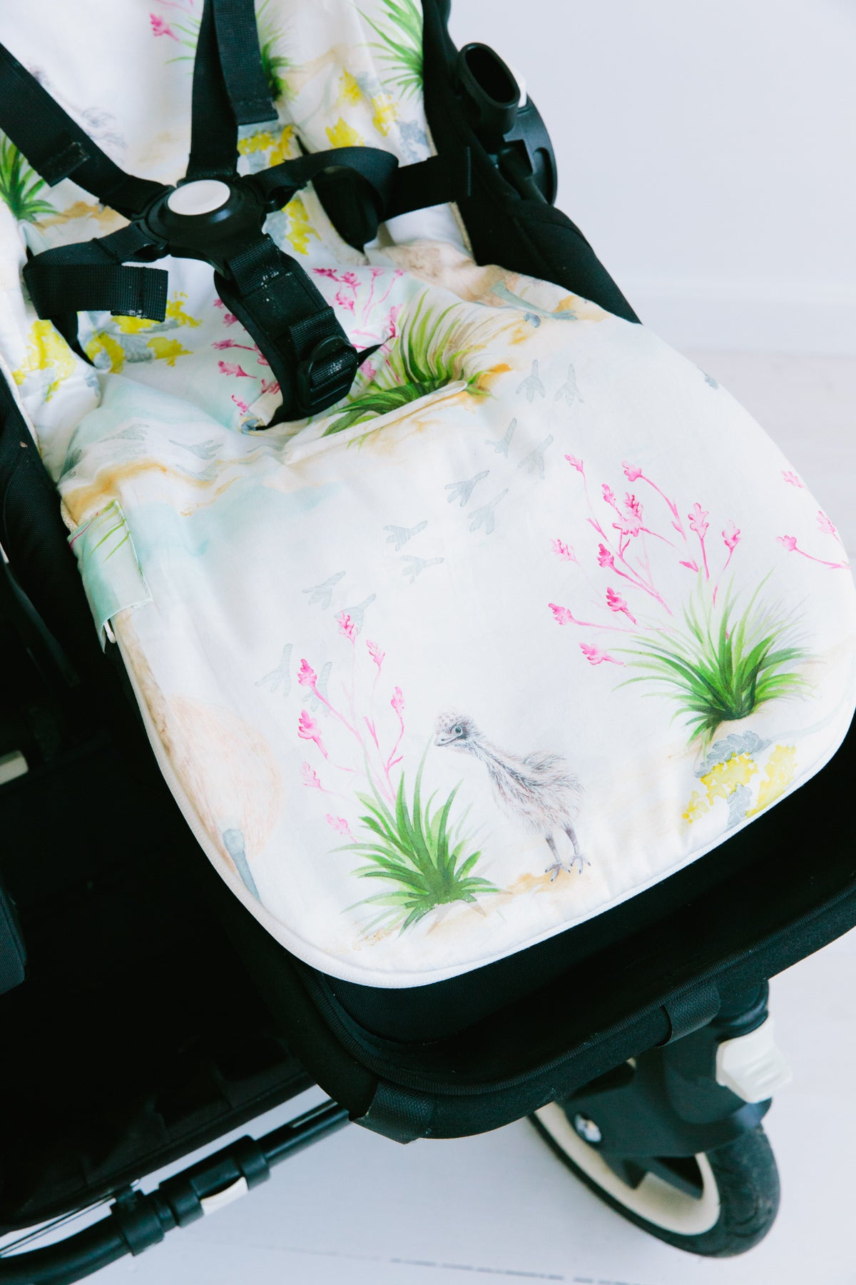 Cheeky Emu Universal Pram Liner. Premium quality, durable, washable - Marmalade Lion