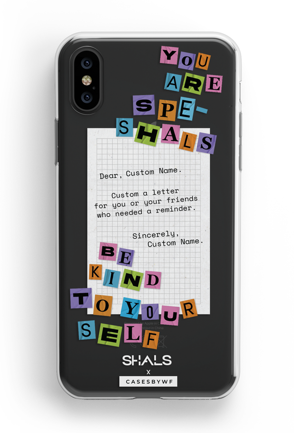 Speshals Letter - KLEARLUX™ Limited Edition Shals x Casesbywf Phone Case