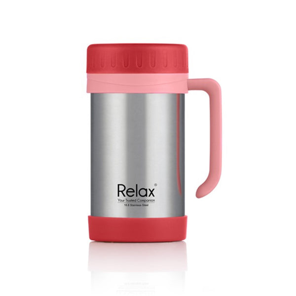 RELAX 500ML 18.8 STAINLESS STEEL THERMAL MUG - RED