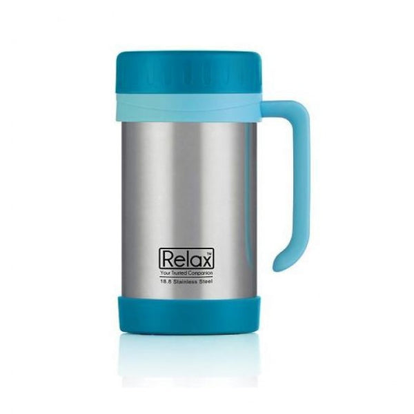 RELAX 500ML STAINLESS STEEL THERMAL MUG - BLUE