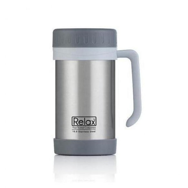 RELAX 500ML 18.8 STAINLESS STEEL THERMAL MUG - GREY