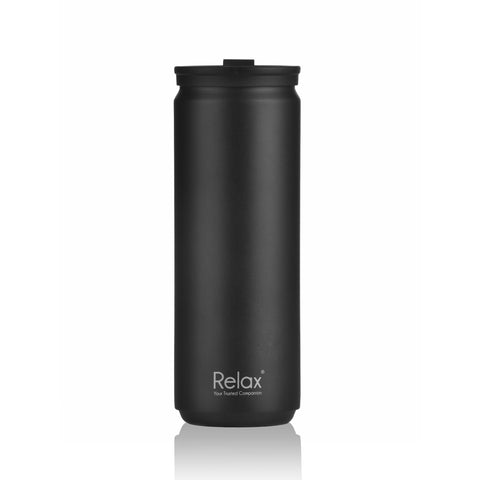 RELAX 500ML 18.8 STAINLESS STEEL THERMAL TUMBLER - MATT BLACK