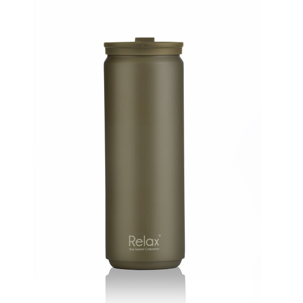 RELAX 500ML 18.8 STAINLESS STEEL THERMAL TUMBLER - MATT GREEN