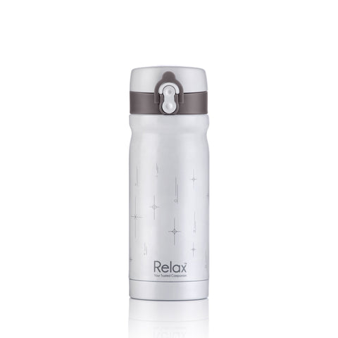 RELAX 300ML 18.8 STAINLESS STEEL THERMAL FLASK - WHITE