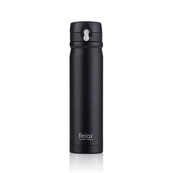 RELAX 500ML 18.8 STAINLESS STEEL THERMAL FLASK (BLACK) - D2450-08