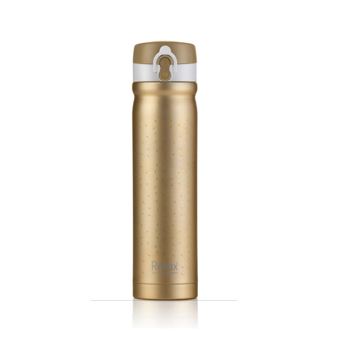 RELAX 500ML 18.8 STAINLESS STEEL THERMAL FLASK (GOLD) - D2450-16