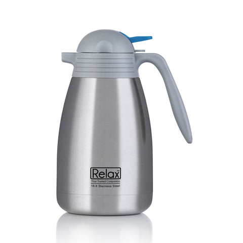 RELAX 1500ML 18.8 STAINLESS STEEL THERMAL CARAFE - GREY (D2500 SERIES)