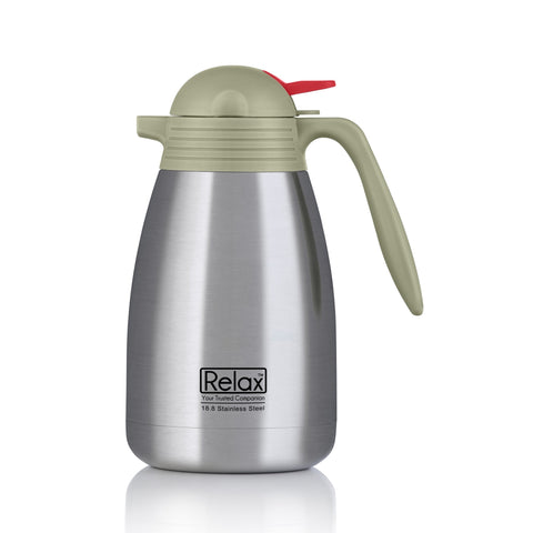 RELAX 1500ML 18.8 STAINLESS STEEL THERMAL CARAFE - BEIGE (D2500 SERIES)