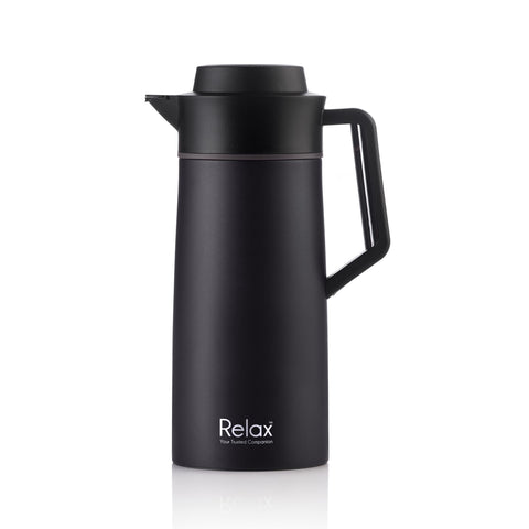 RELAX 2000ML 18.8 STAINLESS STEEL THERMAL CARAFE - BLACK (D2800 SERIES)