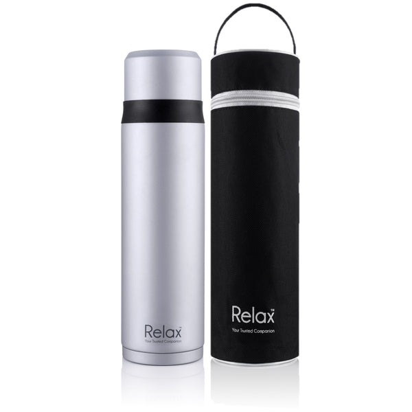 RELAX 750ML 18.8 STAINLESS STEEL THERMAL FLASK WITH FREE POUCH