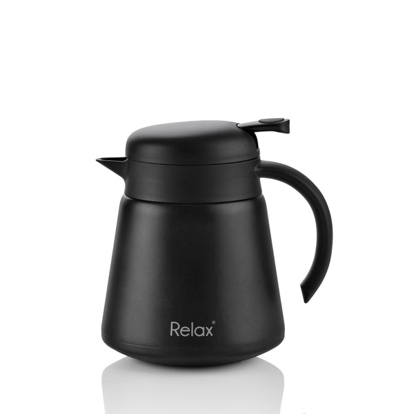 RELAX 800ML 18.8 STAINLESS STEEL THERMAL CARAFE - BLACK (D3080-08)