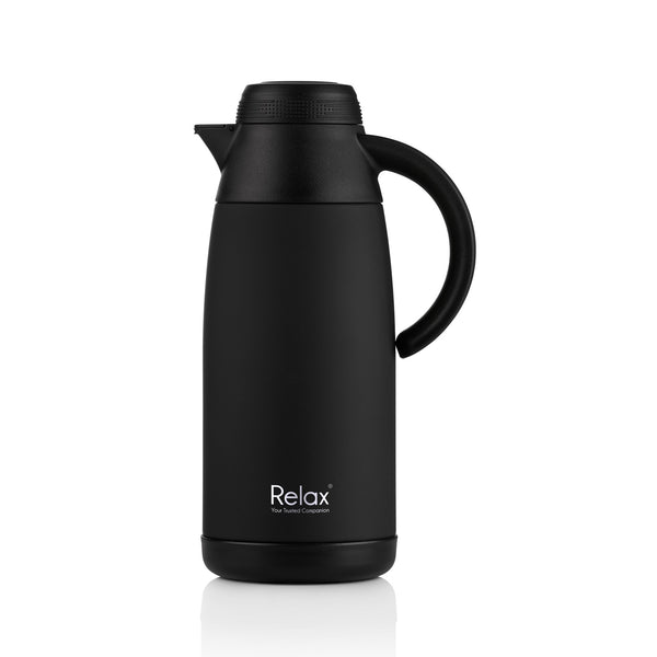 1100ML RELAX 18.8 STAINLESS STEEL THERMAL CARAFE - BLACK (D3111-08)