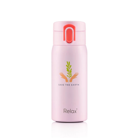 RELAX 350ML 18.8 STAINLESS STEEL THERMAL FLASK - PINK