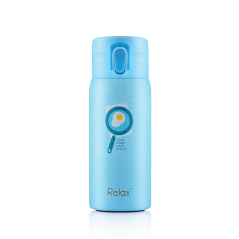 RELAX 350ML 18.8 STAINLESS STEEL THERMAL FLASK - LIGHT BLUE