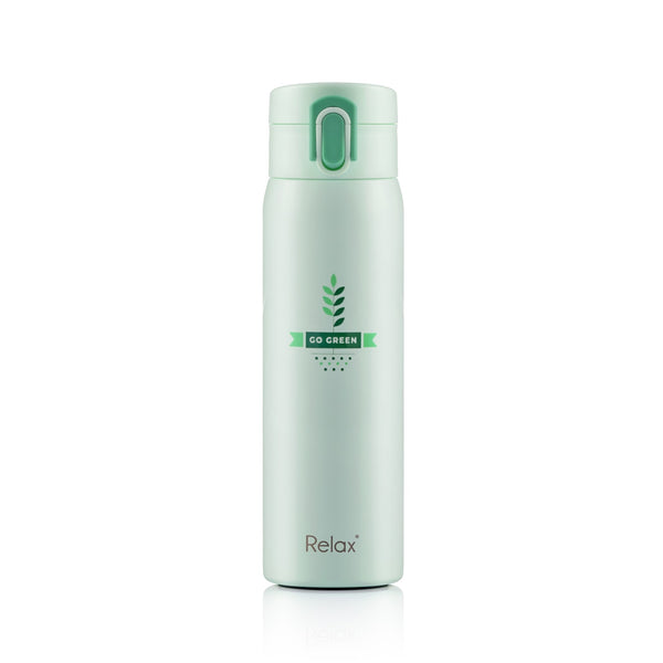 RELAX 500ML 18.8 STAINLESS STEEL THERMAL FLASK - GREEN