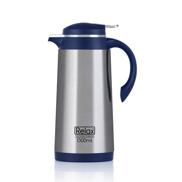 RELAX 1600ML 18.8 STAINLESS STEEL THERMAL CARAFE - BLUE (D4100 SERIES)