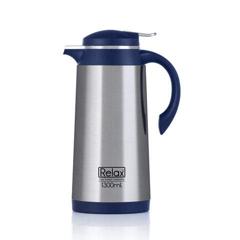 RELAX 1300ML 18.8 STAINLESS STEEL THERMAL CARAFE - BLUE (D4100 SERIES)