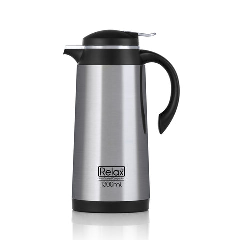 RELAX 1000ML 18.8 STAINLESS STEEL THERMAL CARAFE - BLACK (D4100 SERIES)