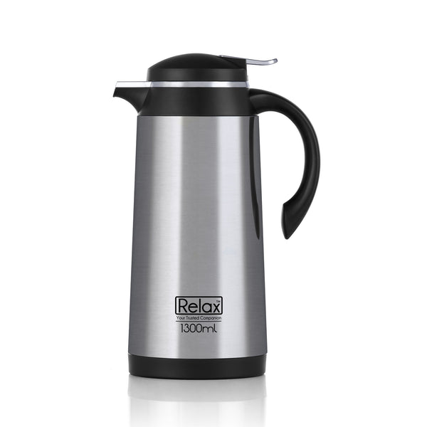 RELAX 1900ML 18.8 STAINLESS STEEL THERMAL CARAFE - BLACK (D4100 SERIES)