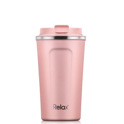 RELAX 400ML 18.8 STAINLESS STEEL THERMAL TUMBLER - MATT PINK