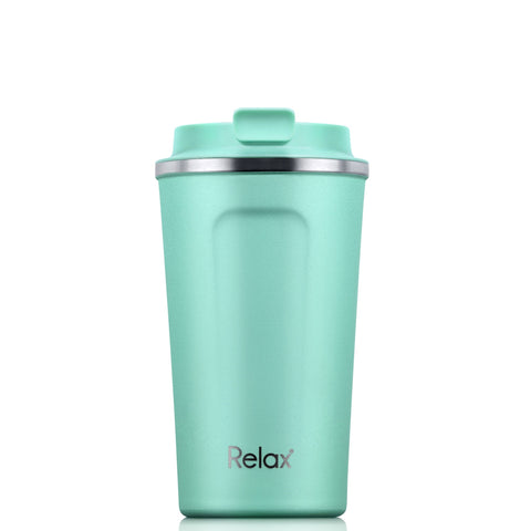 RELAX 400ML 18.8 STAINLESS STEEL THERMAL TUMBLER - MATT CYAN
