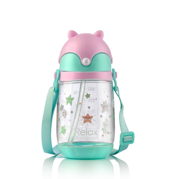 350ml RELAX TRITAN KIDS WATER BOTTLE - D7535 PINK