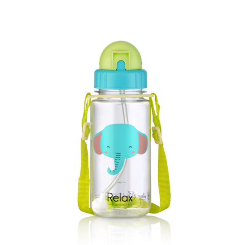 400ML RELAX TRITAN KIDS WATER BOTTLE - D7640 CYAN