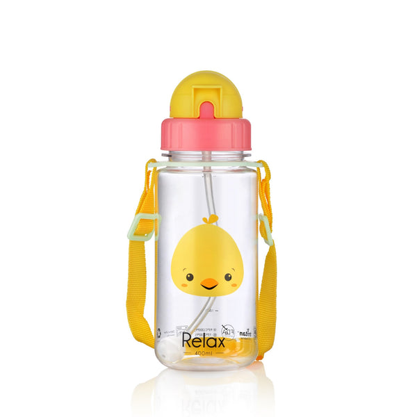 400ML RELAX TRITAN KIDS WATER BOTTLE - D7640 ORANGE