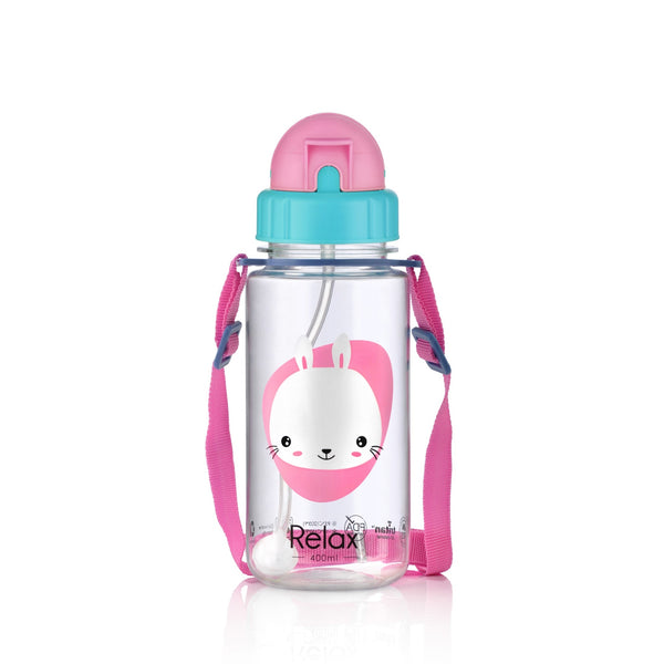 400ML RELAX TRITAN KIDS WATER BOTTLE - D7640 PINK