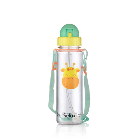 550ML RELAX TRITAN KIDS WATER BOTTLE - D7655 YELLOW