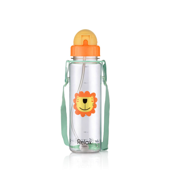 550ML RELAX TRITAN KIDS WATER BOTTLE - D7655 ORANGE
