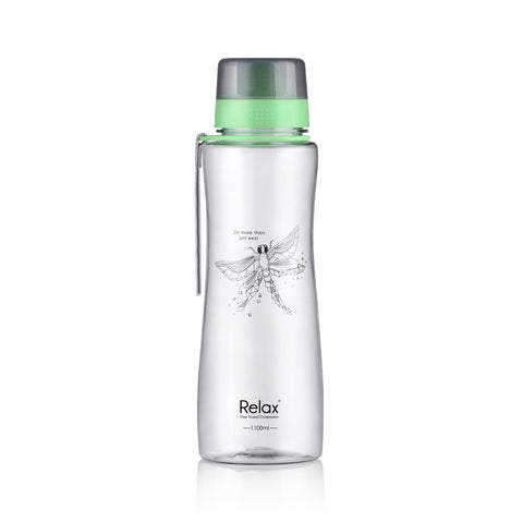1100ML RELAX TRITAN WATER BOTTLE  - D7711 GREEN