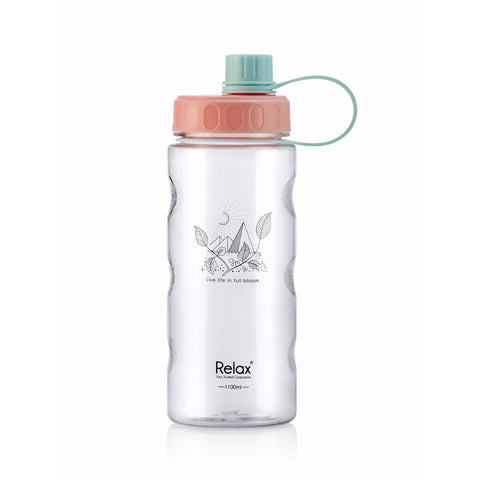 1100ML RELAX TRITAN WATER BOTTLE  - D8111 LIGHT PINK