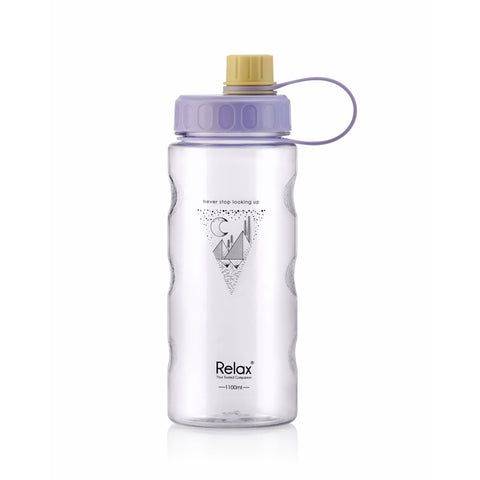 1100ML RELAX TRITAN WATER BOTTLE  - D8111 PURPLE