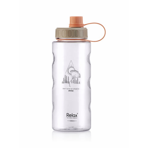 1500ML RELAX TRITAN WATER BOTTLE  - D8115 BROWN